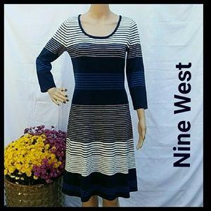 ⭐️Buy1 Get1 Free⭐️ Nine West Rib knit dress
